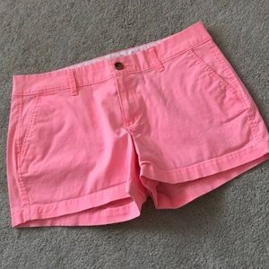 Old Navy neon pink khaki shorts size 6